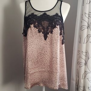 NWT Maurices Sleeveless Blouse W/ Lace